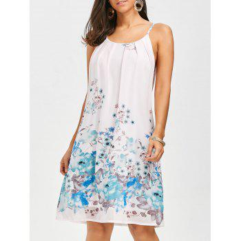 Floral Chiffon Mini Slip Dress - FLORAL FLORAL
