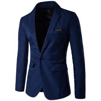 Edging Design Lapel One-Button Blazer