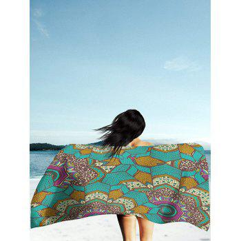Mandala Print Rectangle Milk Silk Fabric Beach Throw