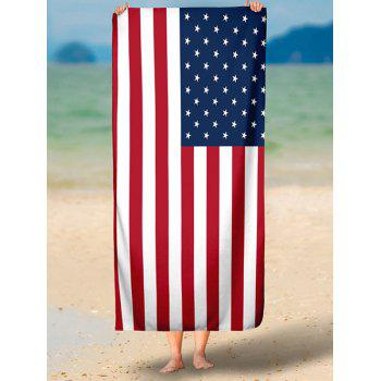 Patriotic American Flag Print Modern Style Beach Throw - multicolorCOLOR XS