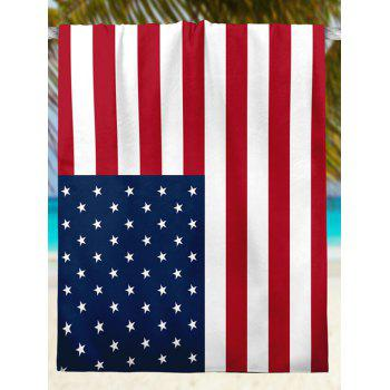 Patriotic American Flag Print Modern Style Beach Throw - multicolorCOLOR multicolorCOLOR
