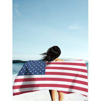 Patriotic American Flag Print Modern Style Beach Throw - MULTICOLOR multicolorCOLOR