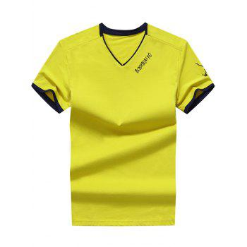 Colorblocked V Neck T-Shirt