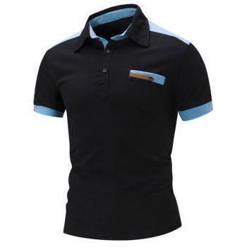 Colorblocked Slim Fit Polo Shirt