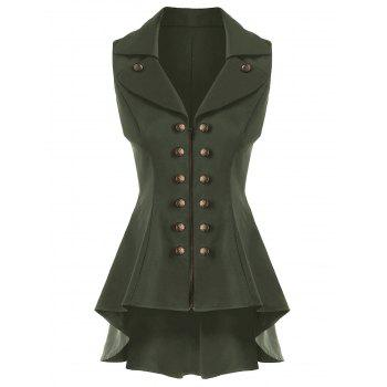 Double Breast Lapel High Low Dressy Waistcoat