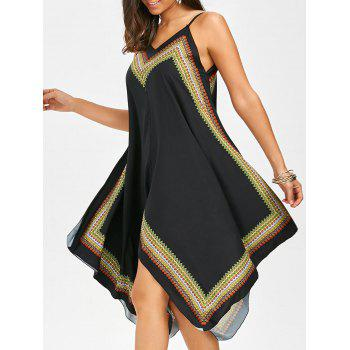 Printed Oversized Slip Handkerchief Dress
