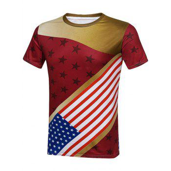 USA Slim Fit American Flag T-Shirt