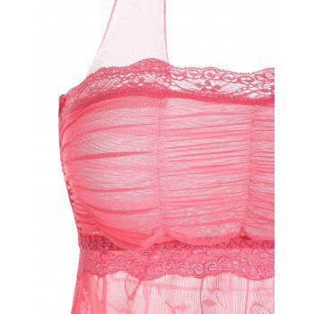Mesh See Thru Halter Intimate Dress - ONE SIZE ONE SIZE