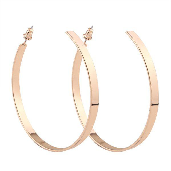 Plating Open Hoop Earrings - GOLDEN