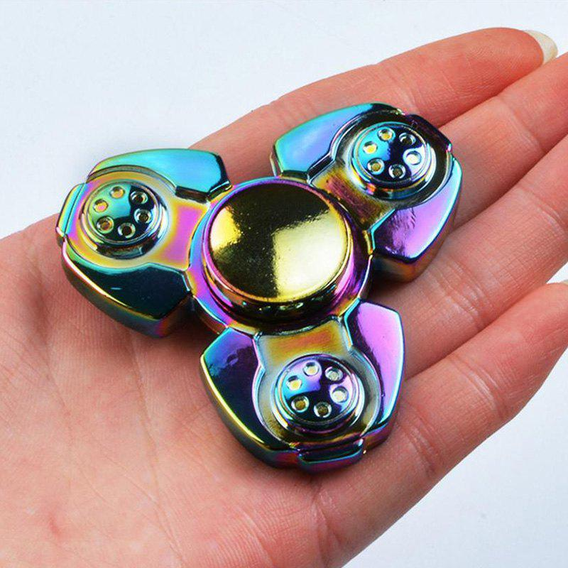 Colorful Stress Relief Finger Gyro Spinner Toy - COLORFUL 7*7CM