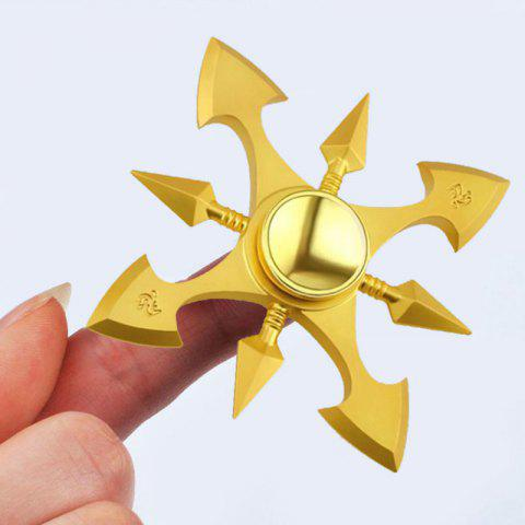 Fidget Metal Toy Stress Reducer Finger Gyro - GOLDEN