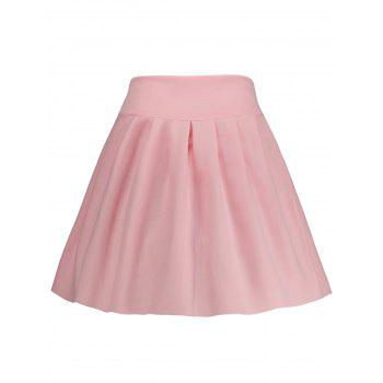 High Waisted A Line Mini Skirt