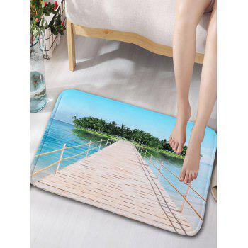 Single Wooden Bridge Water Absorption Skid Resistant Rug