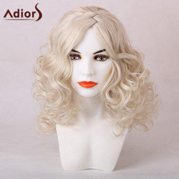 Adiors Medium Side Zig Zag Parting Shaggy Curly Synthetic Wig