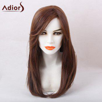 Adiors Long Oblique Bang Tail Adduction Straight Synthetic Wig