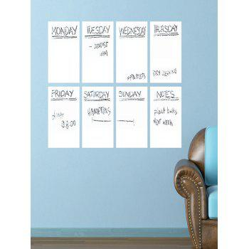 Weekly Schedule Notepad White Board 8PCS A4 Wall Stickers with Pen
