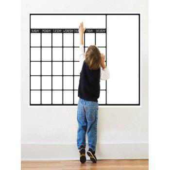 Weekly Schedule White Board Graffiti Painting Wall Decal with Pen