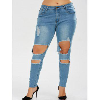 Ripped Plus Size Skinny Jeans