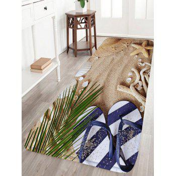 Beach Shoes Starfish Flannel Skid Resistant Bath Rug