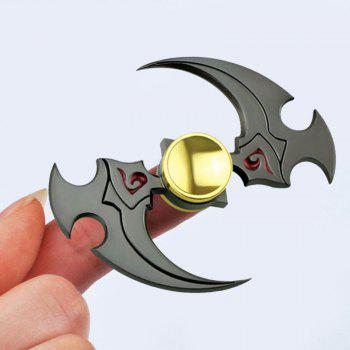 Buy Sickle Shaped Alloy Fidget Spinner Stress Relief Toy GUN METAL