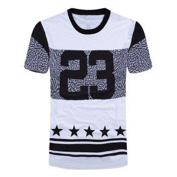 Graphic Star Print Crew Neck T-Shirt