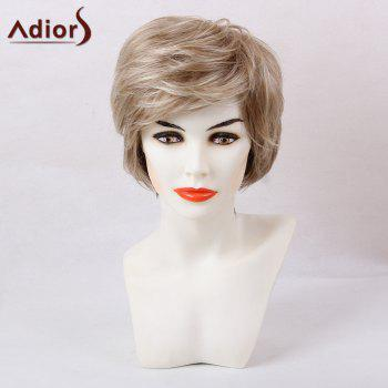 Adiors Short Colormix Layered Inclined Bang Straight Synthetic Hair