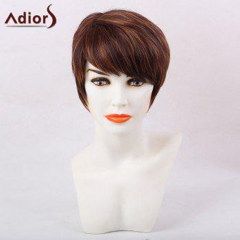 Adiors Color Mix Inclined Bang Straight Pixie Short Synthetic Hair
