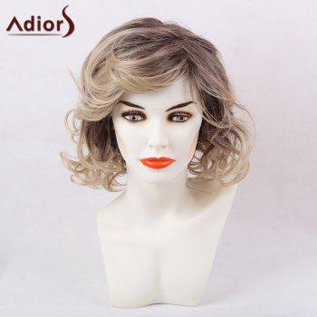 Adiors Short Inclined Bang Shaggy Layered Wavy Colormix Synthetic Wig