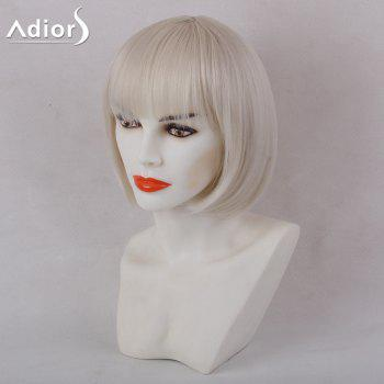Adiors Short Full Bang Silky Straight Bob Synthetic Wig