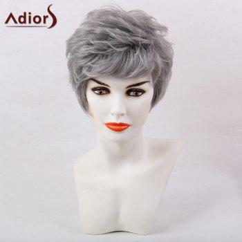 Adiors Short Side Bang Shaggy Layered Natural Straight Synthetic Wig