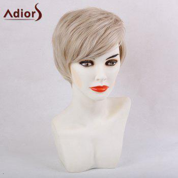 Adiors Short Silky Straight Side Bang Synthetic Wig