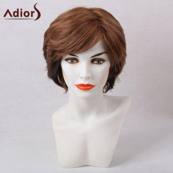 Adiors Short Shaggy Straight Inclined Bang Synthetic Hair