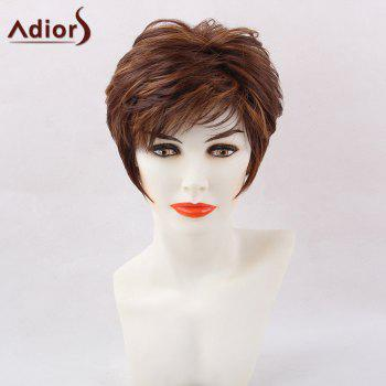 Adiors Short Straight Hightlight Side Bang Pixie Synthetic Hair