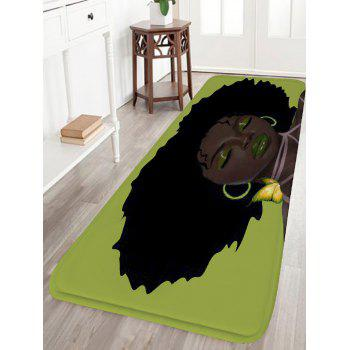 Afro Hair Beauty Water Absorption Skidproof Flannel Bath Rug