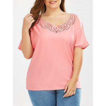 Plus Size Cutout Blouse