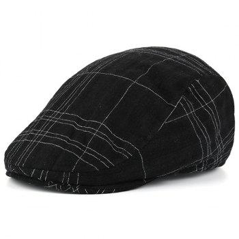 Striped Checked Nostalgic Trucker Hat