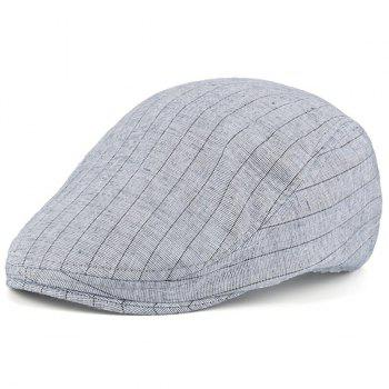 Street Wear Stripe Vintage Flat Hat