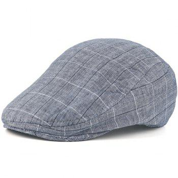 Retro Outdoor Checked Newsboy Hat