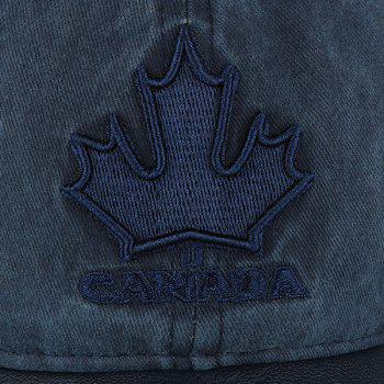 Letters Maple Leaf Embroidered Baseball Hat - BLACK GREY
