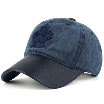 Letters Maple Leaf Embroidered Baseball Hat