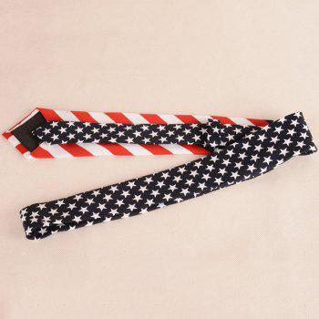 US Flag Element Neck Tie -  BLUE/RED