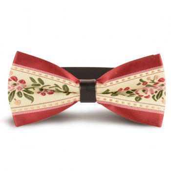 Flowers Embroidered Retro Bow Tie