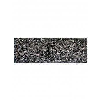 Stone Brick Coral Velvet Floor Area Rug - DEEP GRAY W16 INCH * L47 INCH