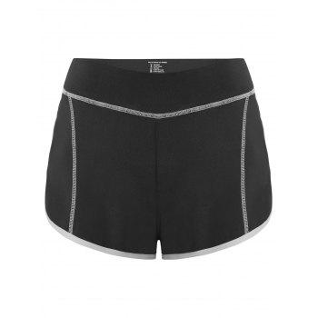 Color Block Mini Gym Shorts
