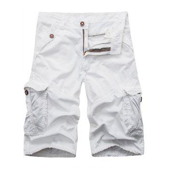 Zip Fly Pockets Cargo Shorts