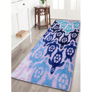 Coral Velvet Indoor Outdoor Turtle Area Rug