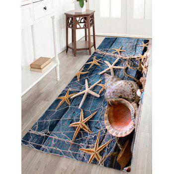 Starfish Conch Floor Coral Velvet Area Rug