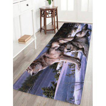 Coral Fleece Wolf Animal Large Area Rug