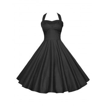Halter Backless Party Vintage Dress
