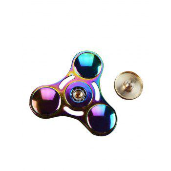 Rainbow Triangle Gyro Fidget Finger Spinner - multicolor COLOR